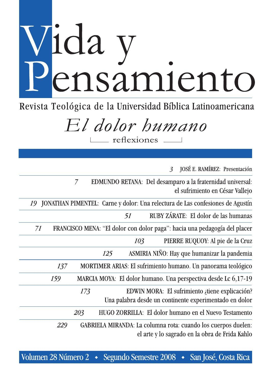 El dolor humano by Universidad Bíblica Latinoamericana - issuu