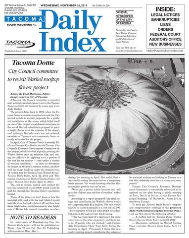 Tacoma Daily Index November 26 2014 By Sound Publishing Issuu