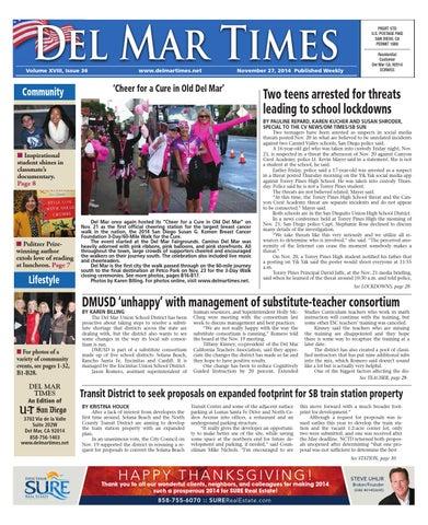 Del Mar Times 11 27 14 By Mainstreet Media Issuu
