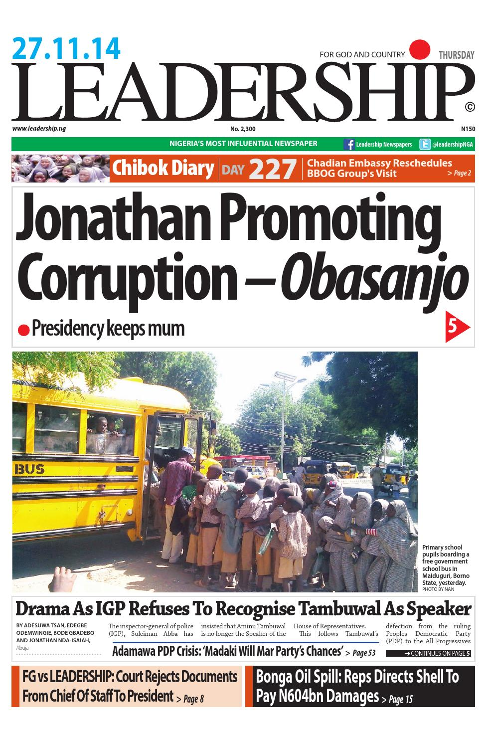Leadership news by LEADERSHIP Newspaper - issuu