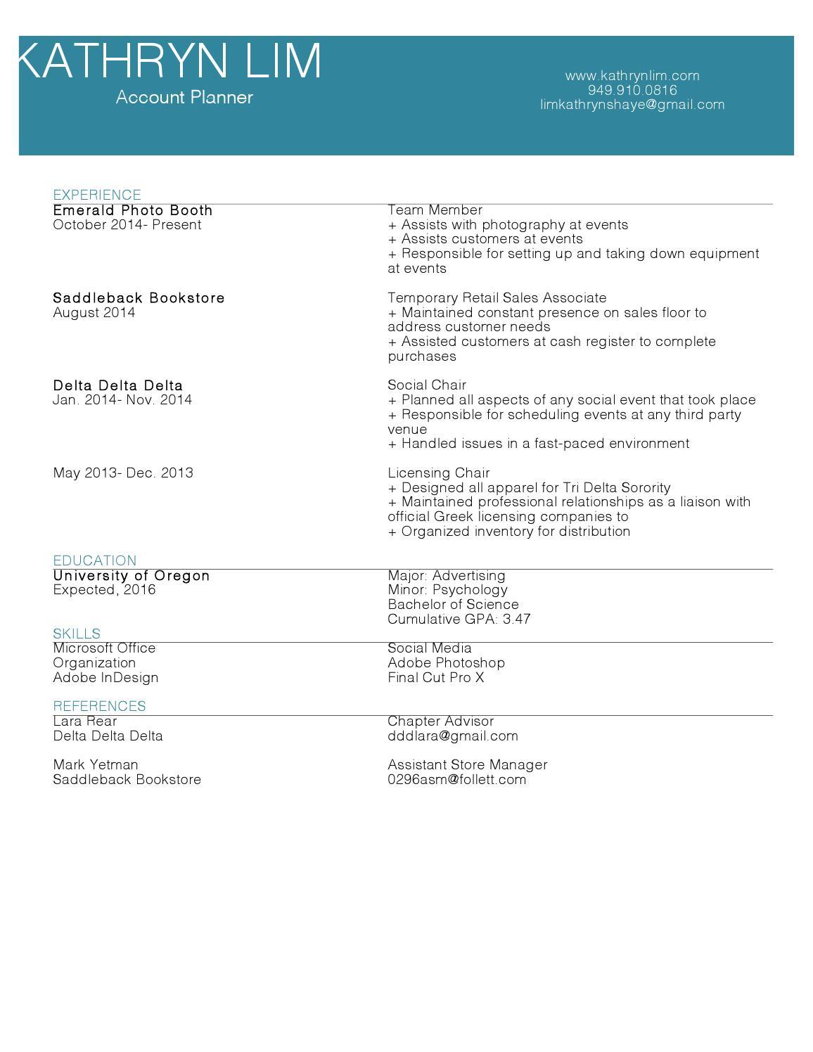 kathryn lim resume by kathrynlim