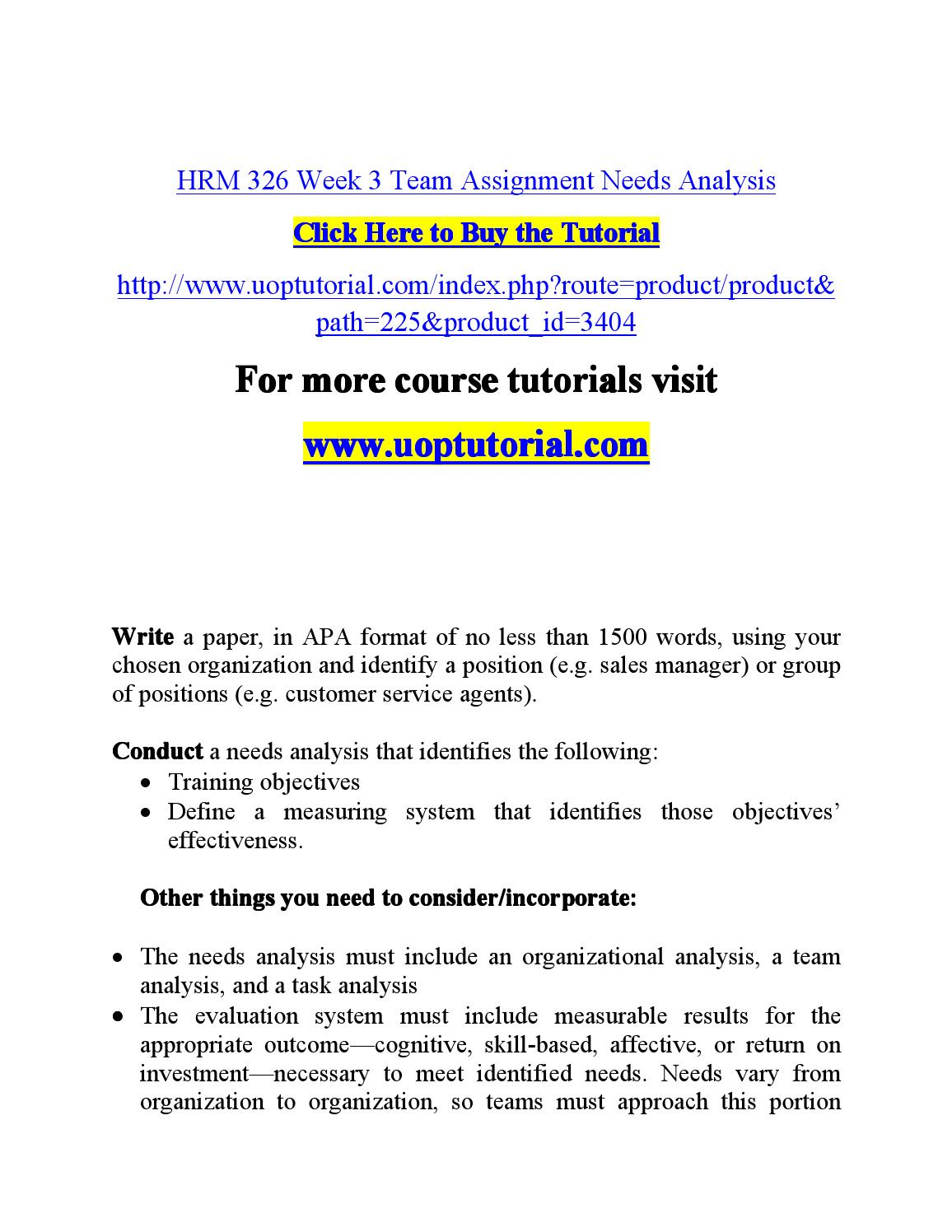 HRM 326 WEEK 5 Professional Development Plan