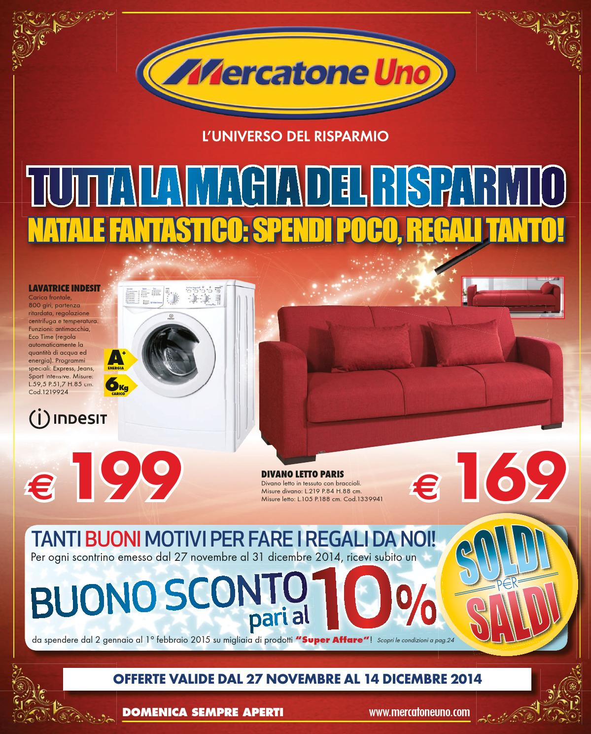 Mercatone uno catalogo natale2014 by mobilpro issuu for Divano mercatone uno