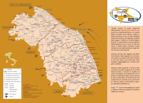 Immagini Cartina Marche.Plein Air Nelle Marche Cartina Lr By Marche Tourism Issuu