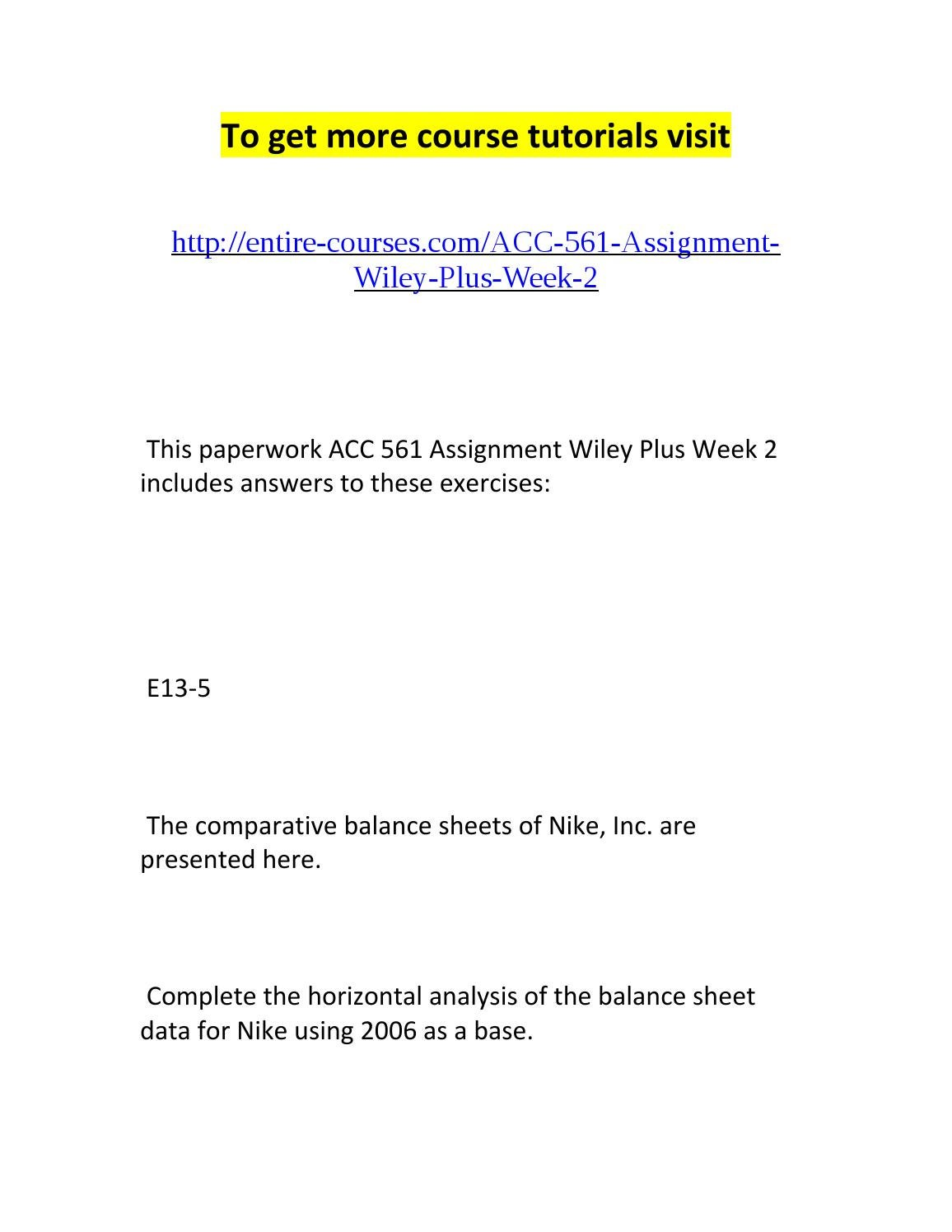 acc 561 assignment wiley plus week 2 by brian - issuu