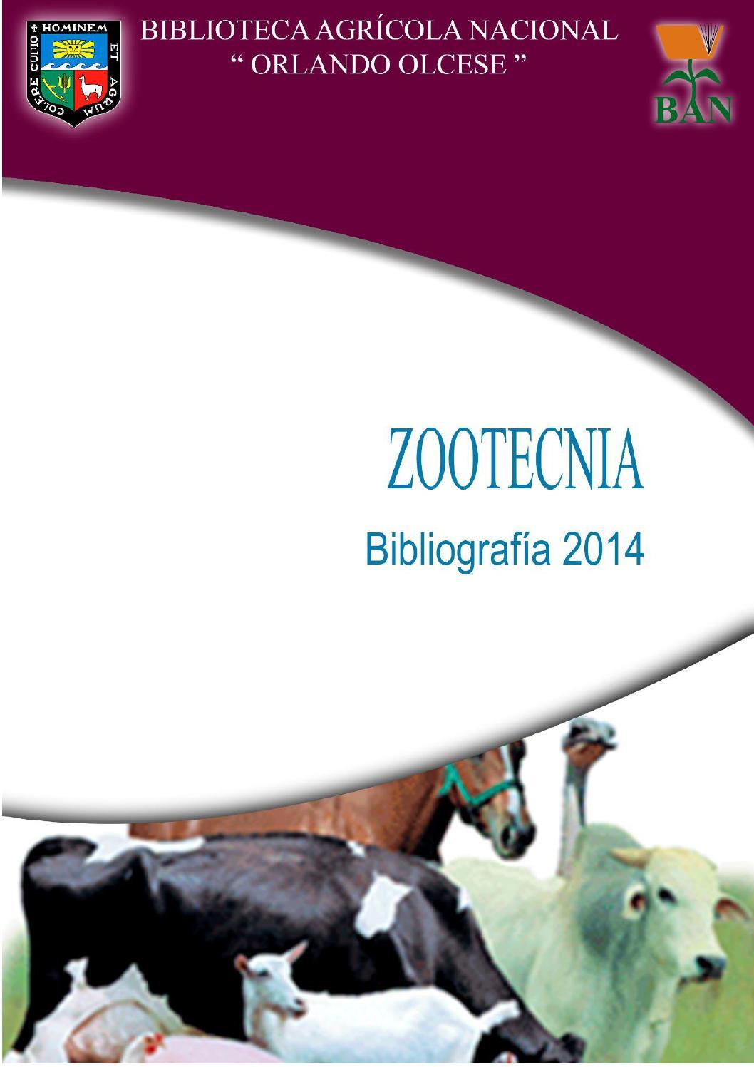 Facultad de Zootecnia by Biblioteca Agrícola Nacional - issuu