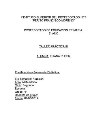 Secuencia didáctica fracciones by Eli Rufer - issuu