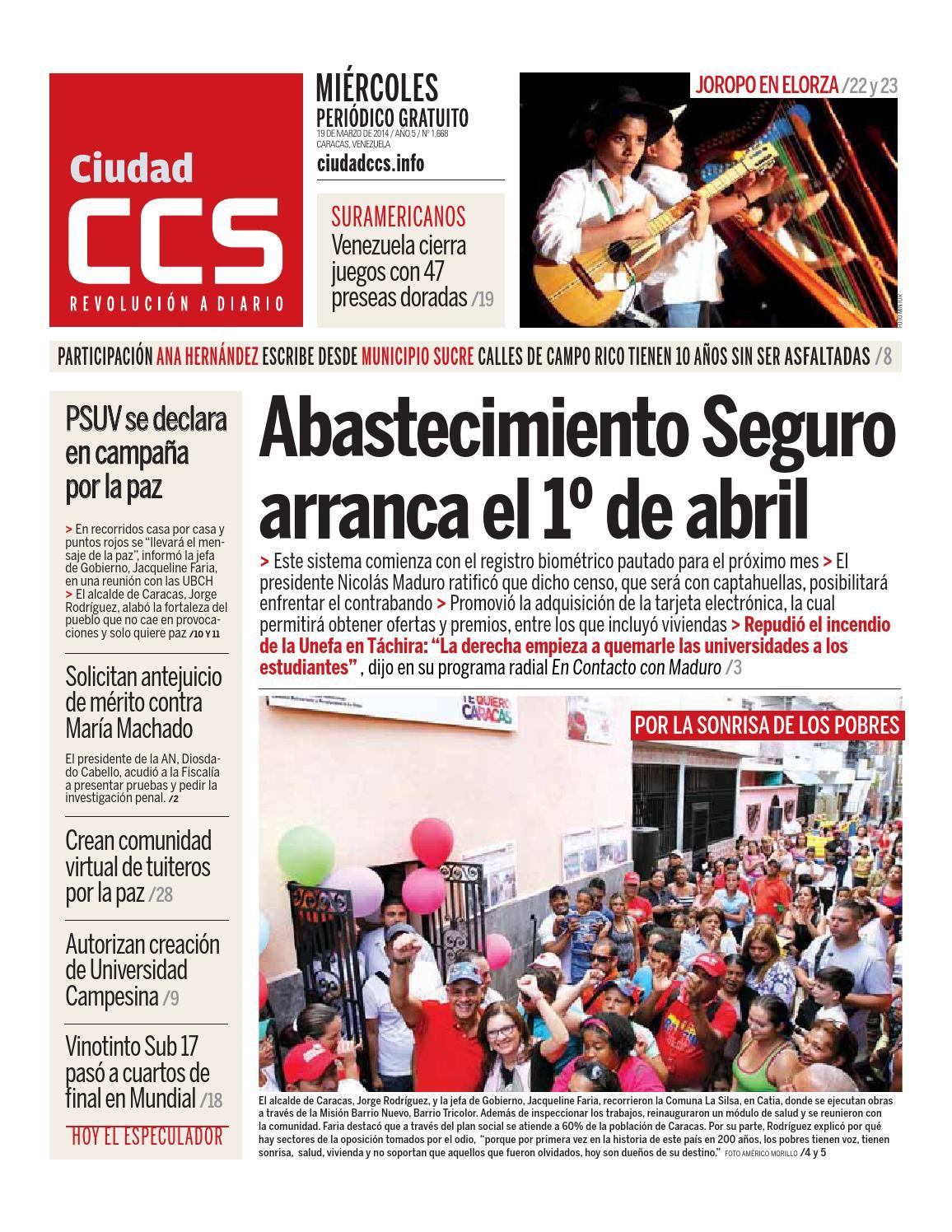8d0e33e66f8 19 03 14 by Ciudad CCS - issuu