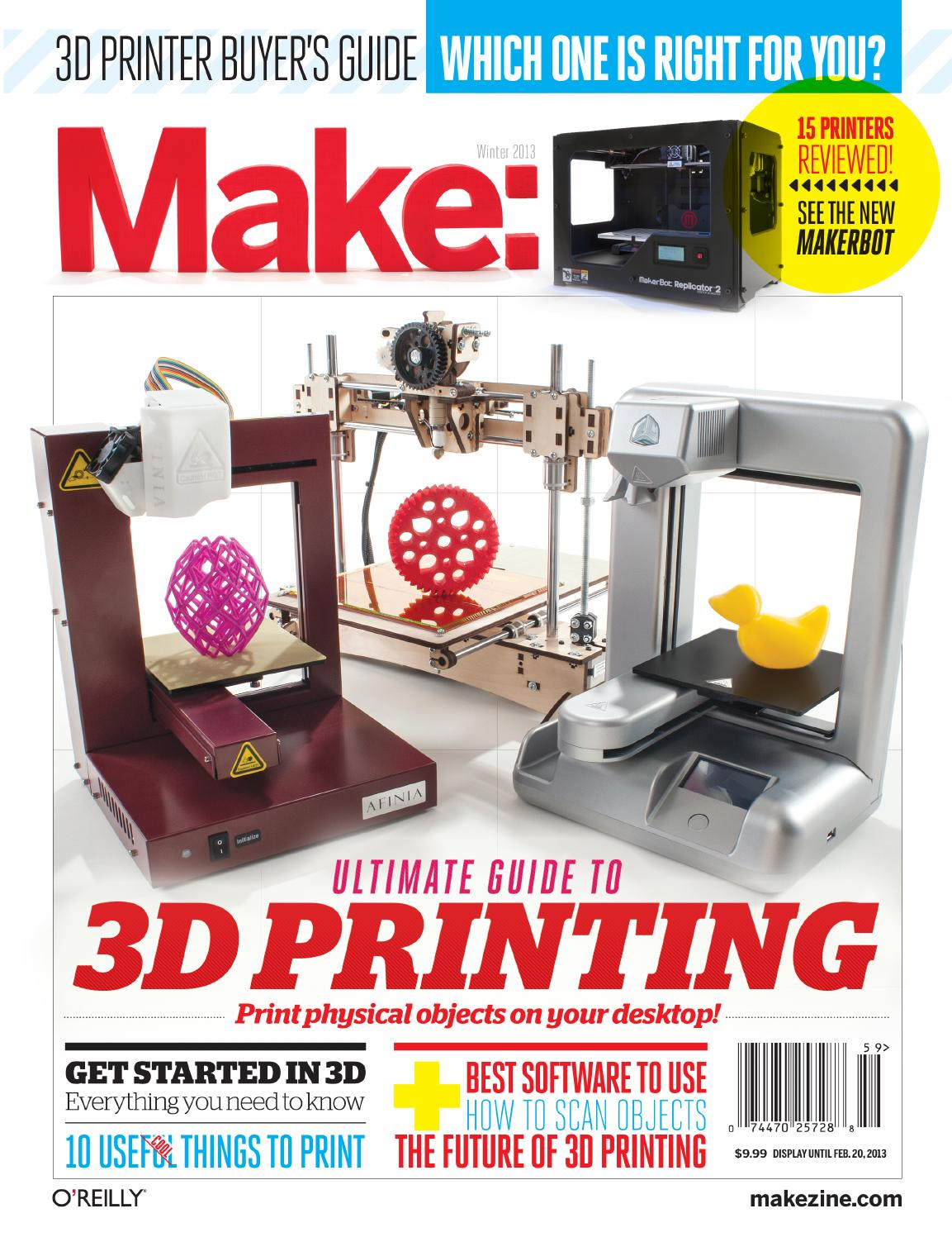 Make Ultimate Guide To 3d Printing 2013 By Ghotro Issuu Circuit Bent Modified Toy Festival Ponoko
