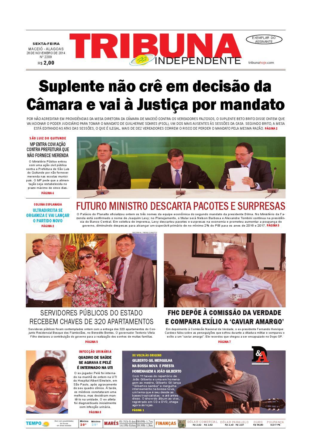 c81c0bd9da5 Edição número 2209 - 28 de novembro de 2014 by Tribuna Hoje - issuu