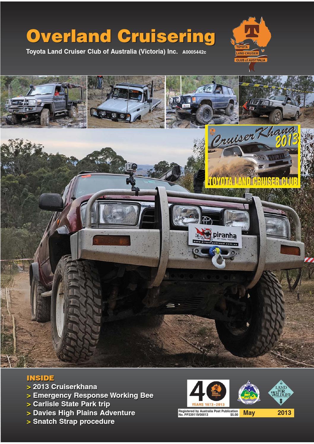 May 2013 Tlccv Magazine By Toyota Landcruiser Club Of Victoria Pilar 3 Way Type 2 For Pajero 2008 2015 Issuu