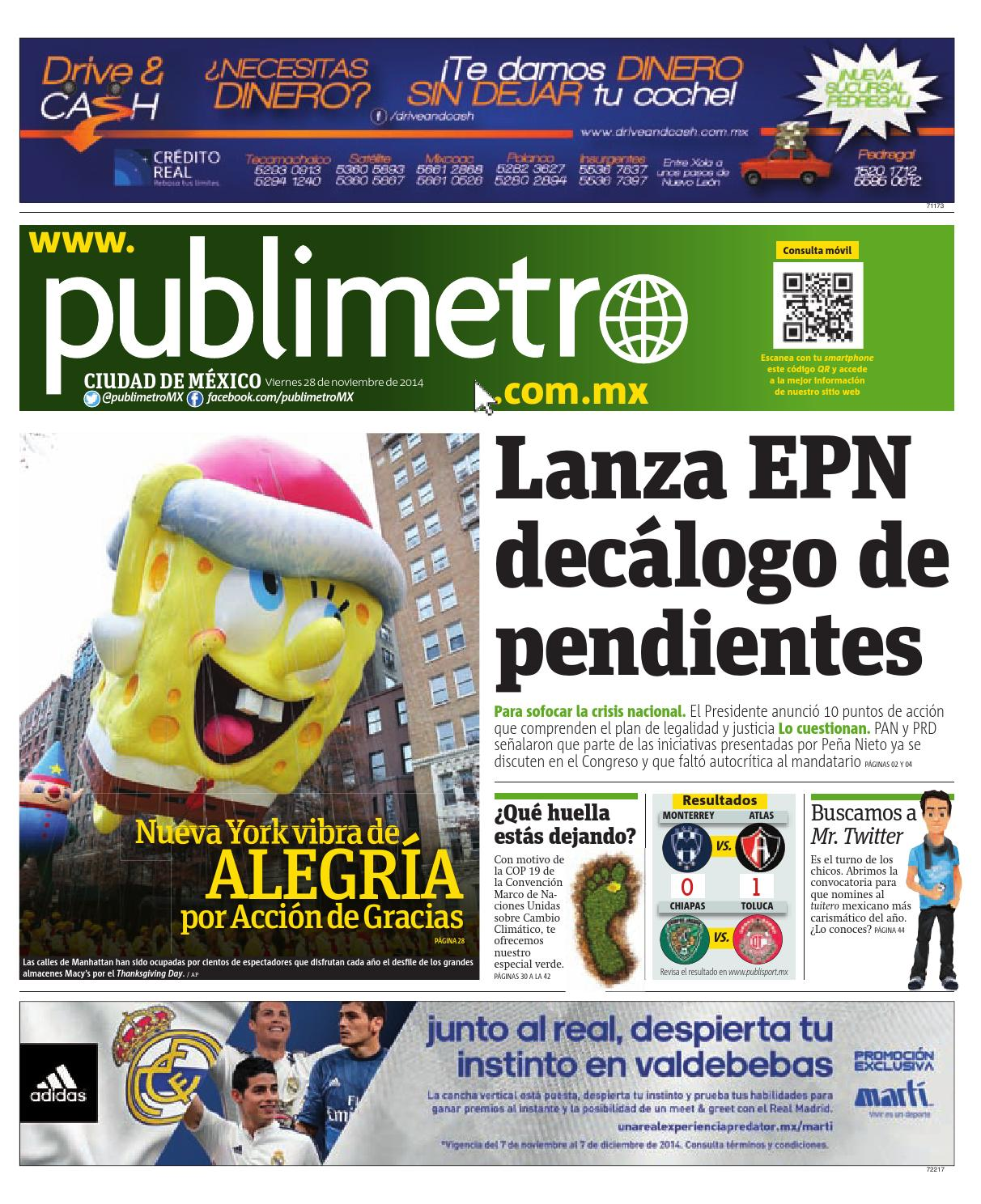 Publimetro By 20141128 mx Mexico Issuu publimetro 8wXOnPN0k