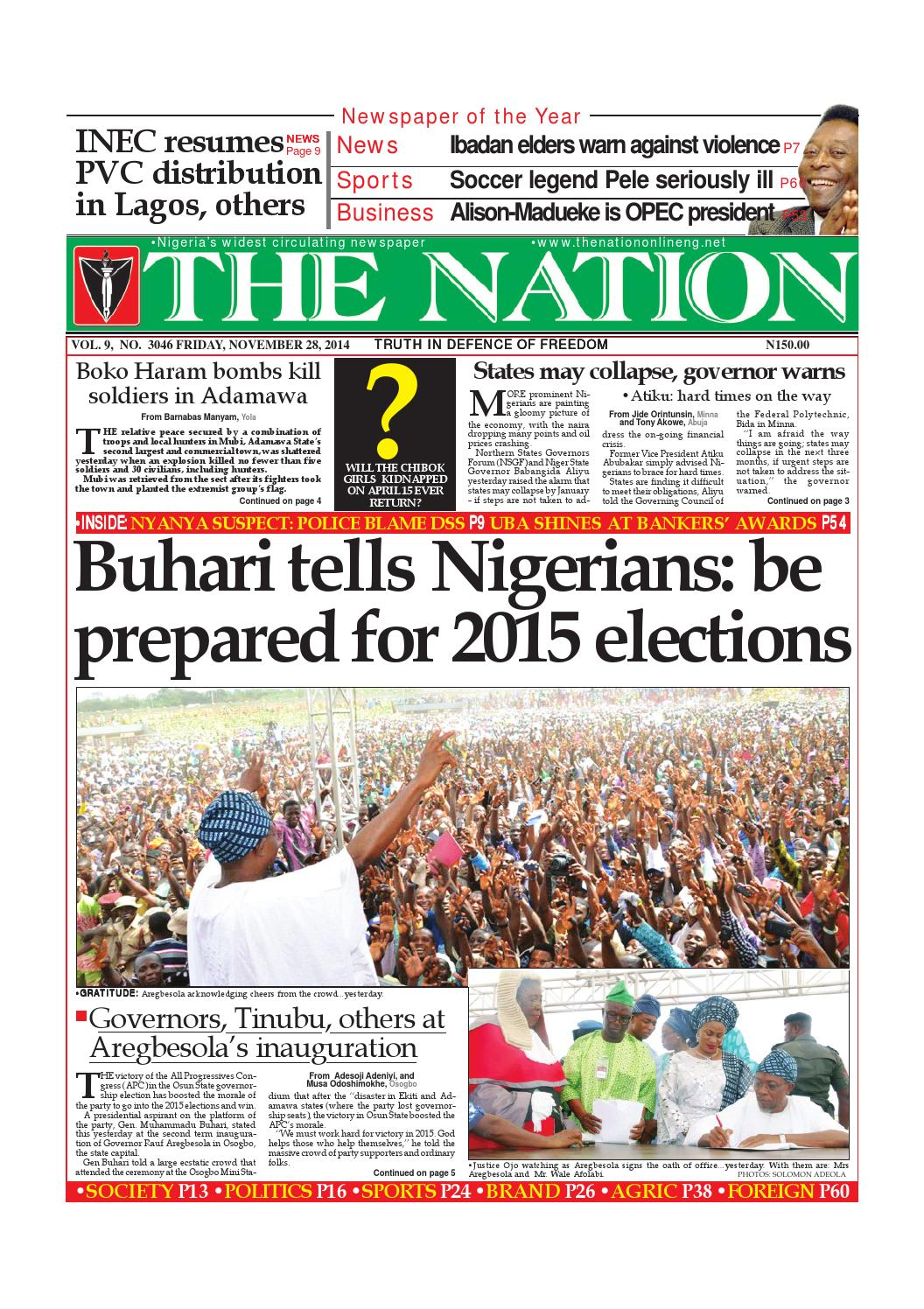 November 28, 2014 by The Nation - issuu