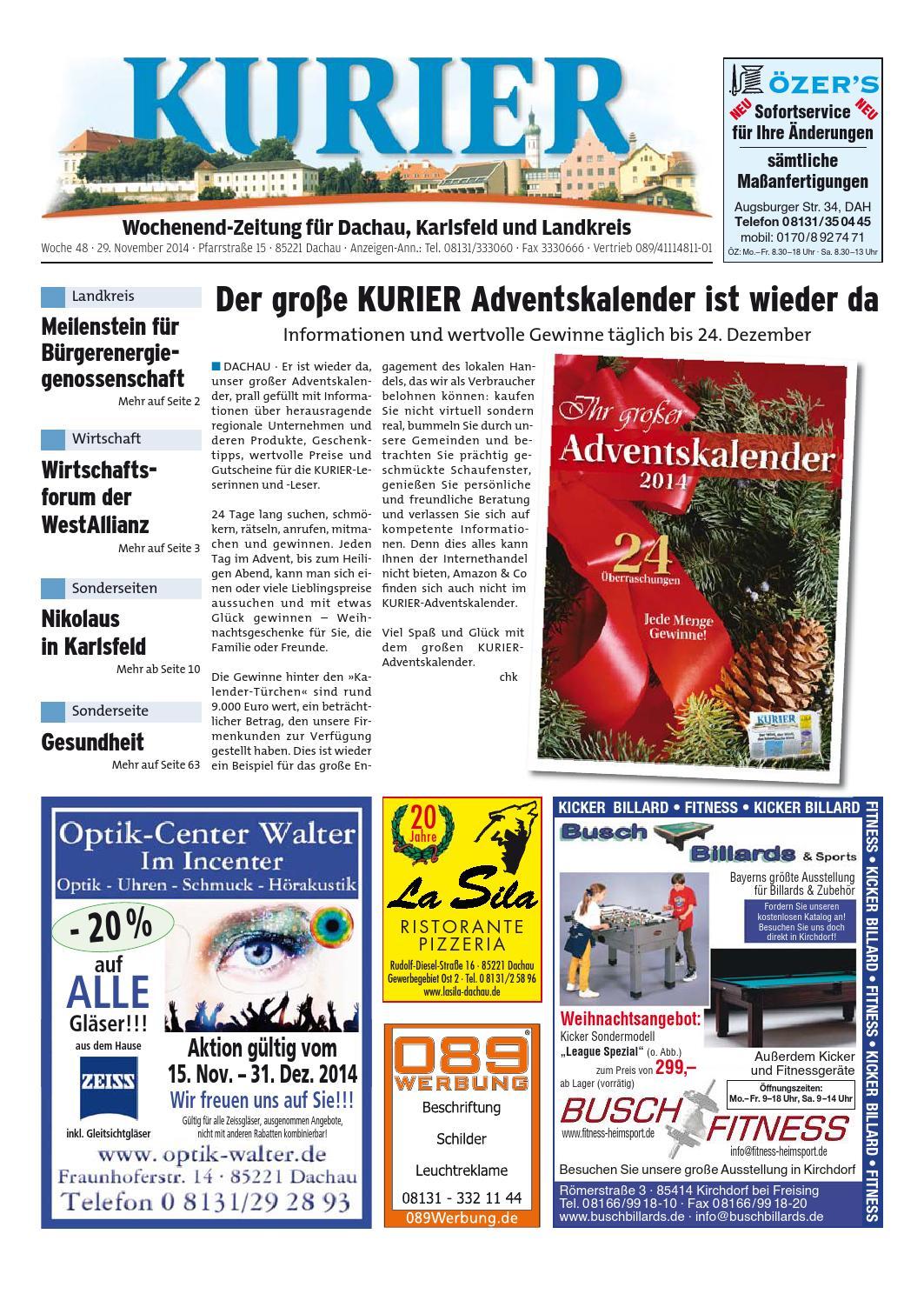 KW 48-2014 by Wochenanzeiger Medien GmbH - issuu