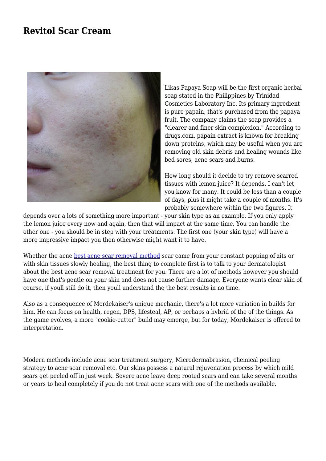 Revitol Scar Cream By Wearynurture1560 Issuu