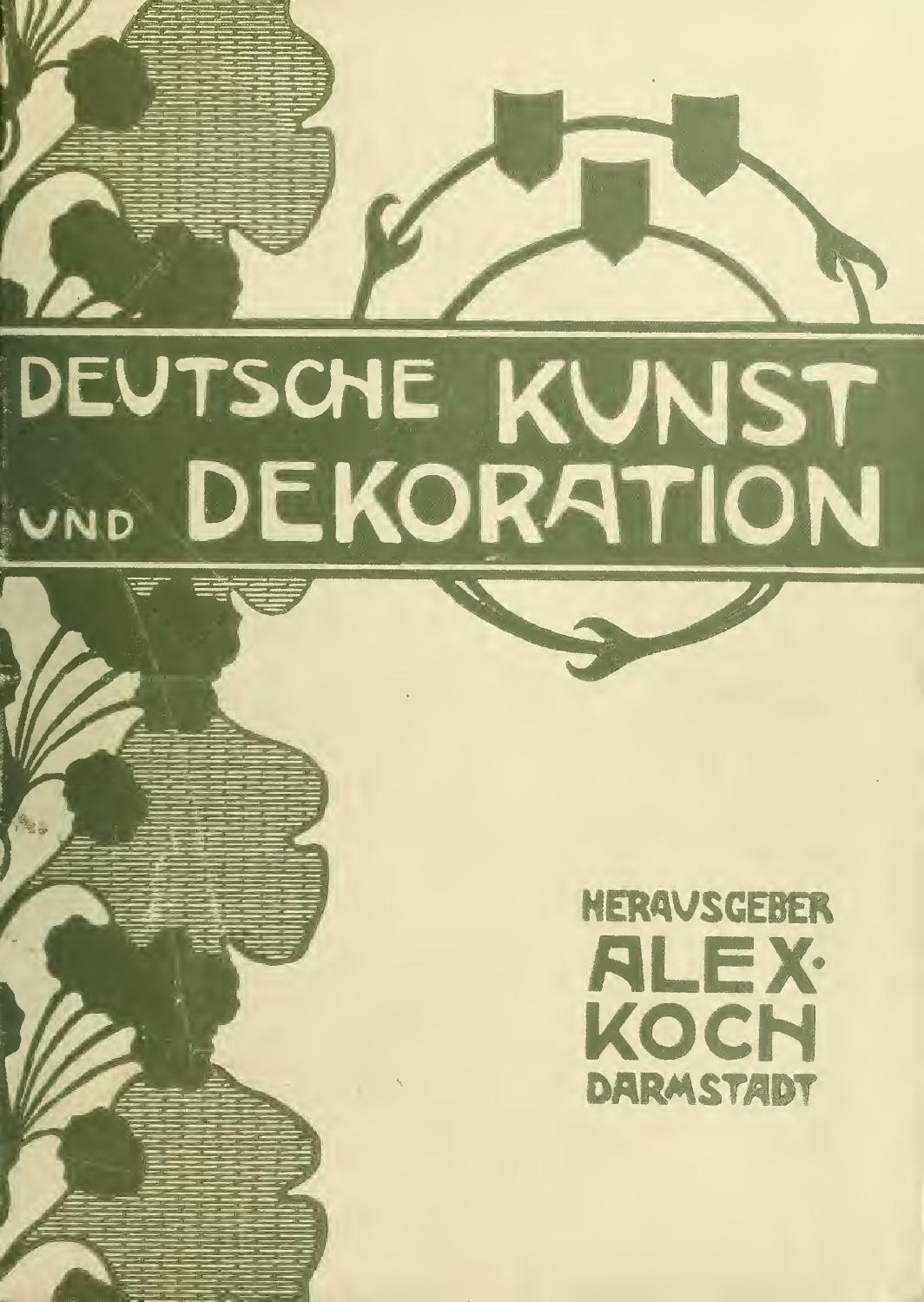 Deutsche kunst und dekoration band VIII april 1901 september 1901 by ...
