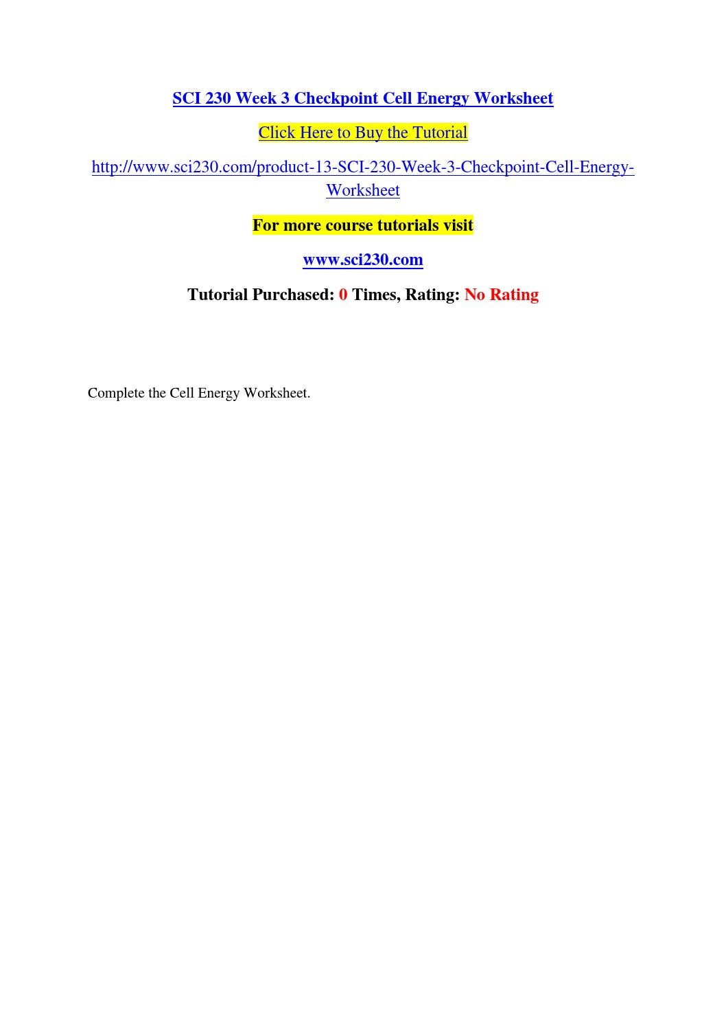 Sci 230 week 3 checkpoint cell energy worksheet by praveenaaa - issuu