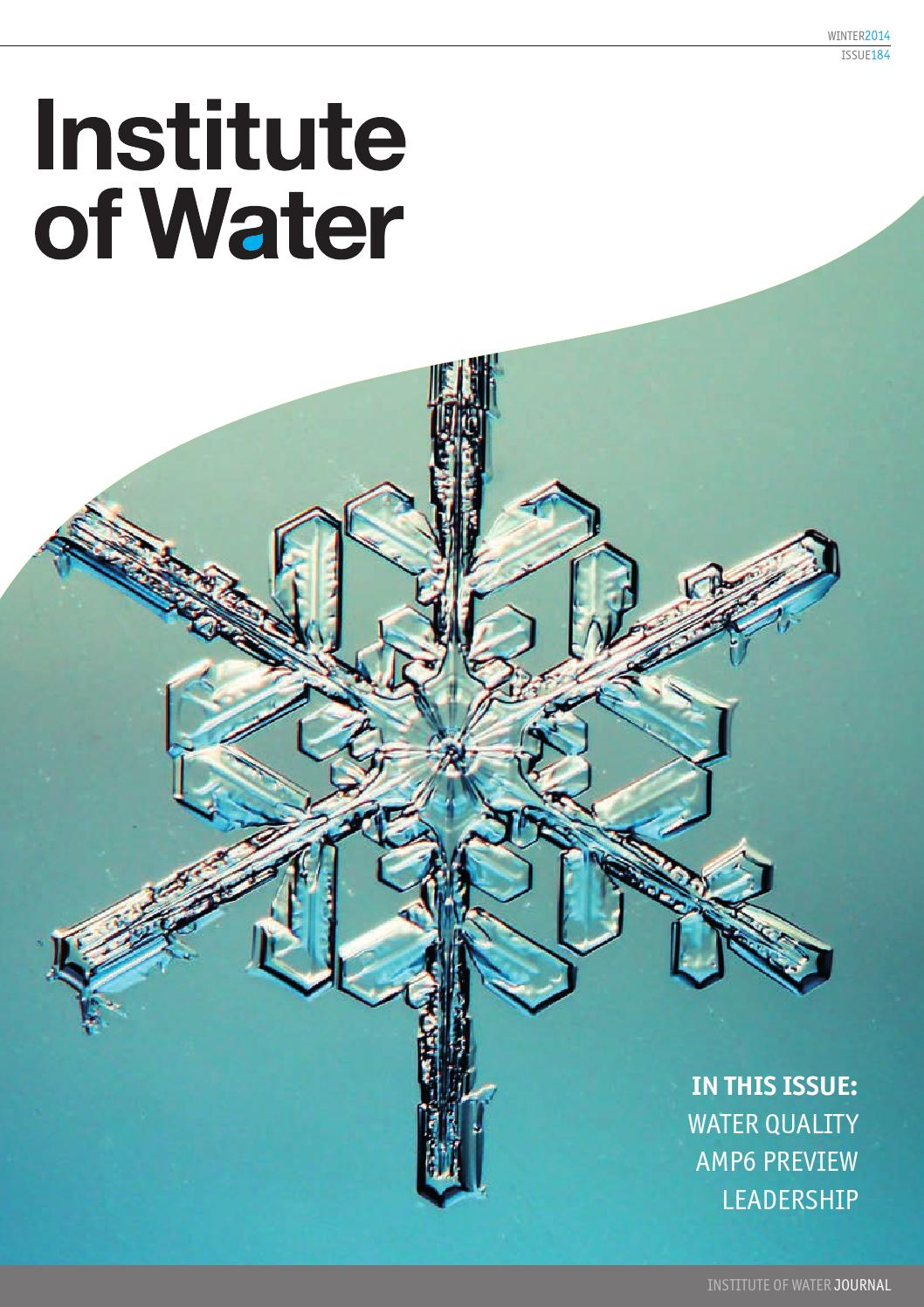 Institute of Water 184 by Distinctive Publishing - issuu