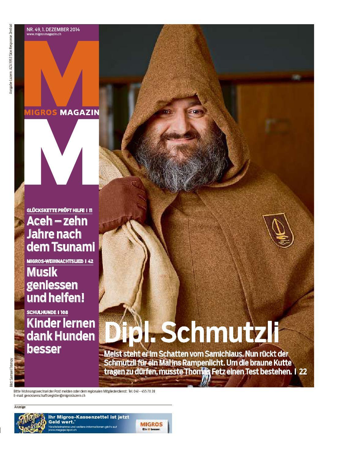 Migros magazin 49 2014 d lu by Migros-Genossenschafts-Bund - issuu