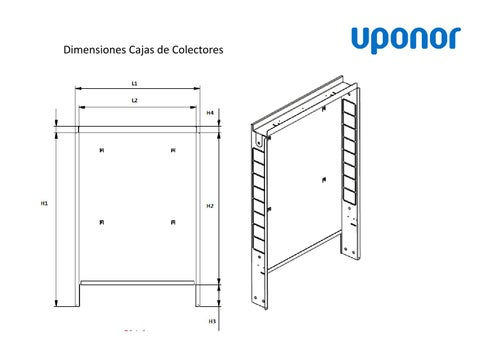 Instrucciones dimensiones cajas de colectores suelo - Uponor suelo radiante ...