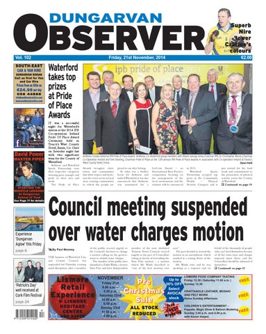 Dungarvan observer 21 11 2014 edition by dungarvan observer issuu page 1 fandeluxe Choice Image