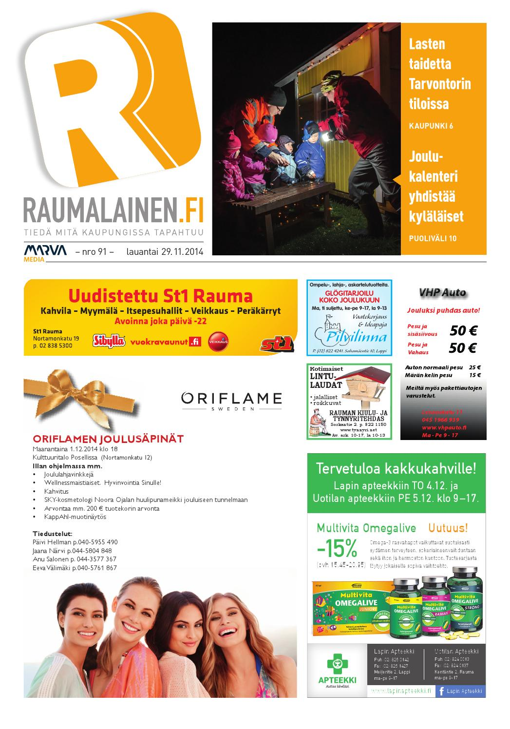 Raumalainen 29 11 2014 by Marva Group - issuu a1eaa3580c
