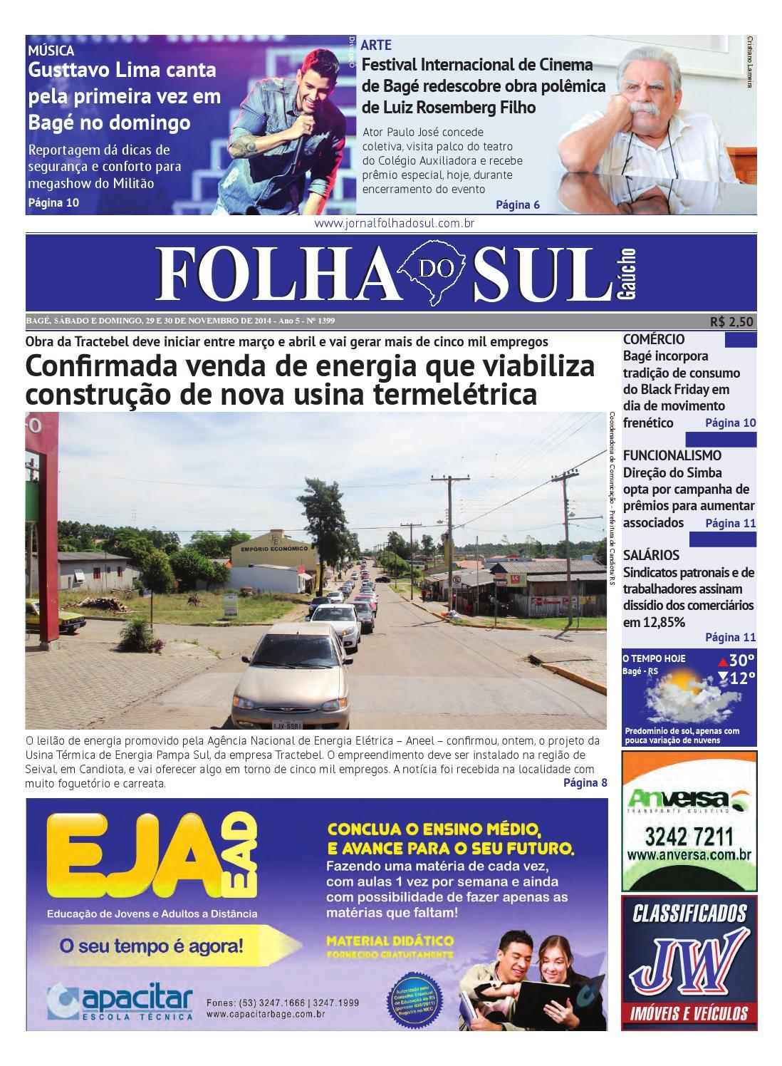 5b5961703e Folha do Sul Gaúcho Ed. 1399 (29 11 2014) by Folha do Sul Gaúcho - issuu