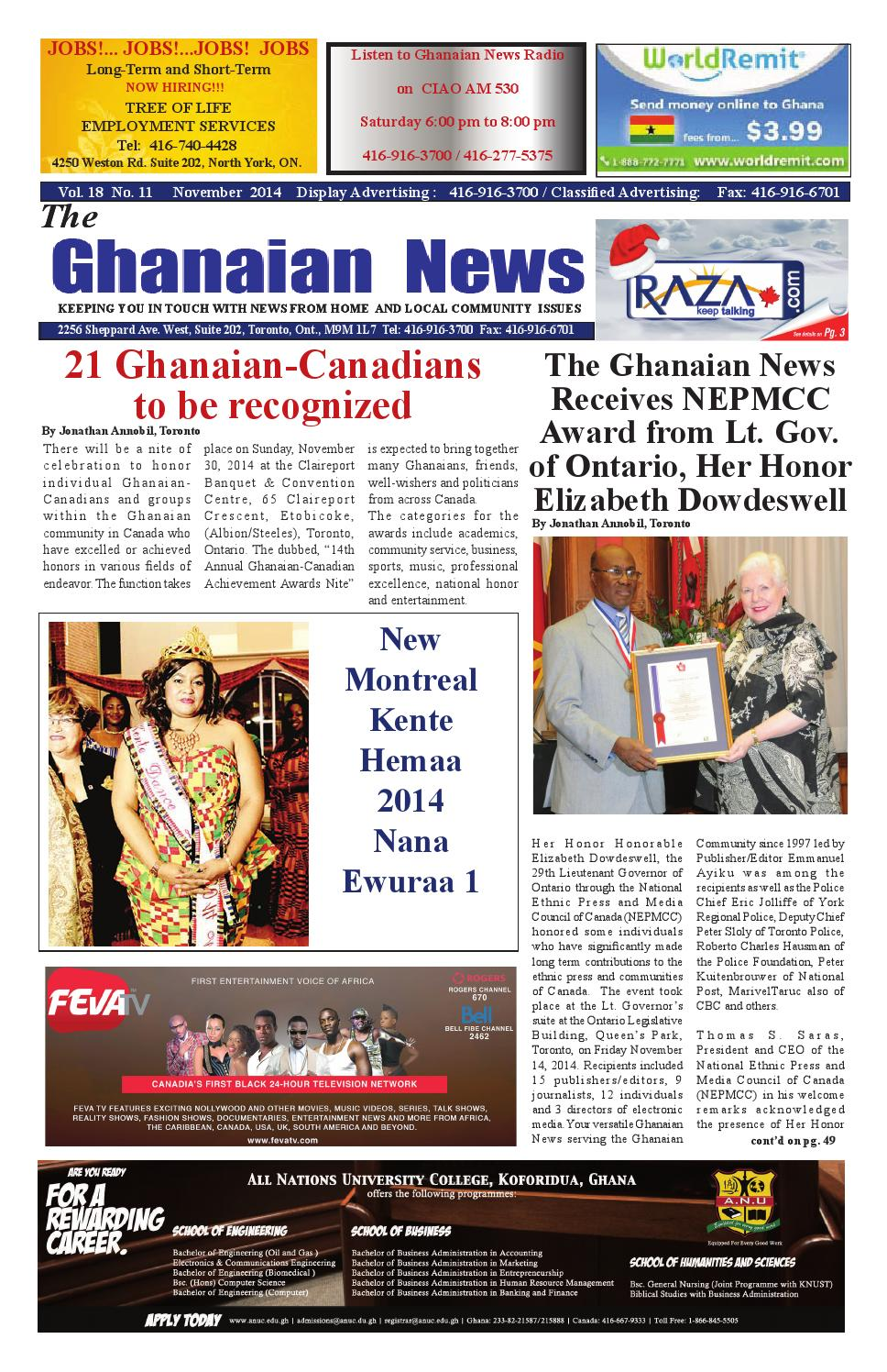 Ghanaian News November 2014 Edition By Razak Ray Axe Banks Issuu