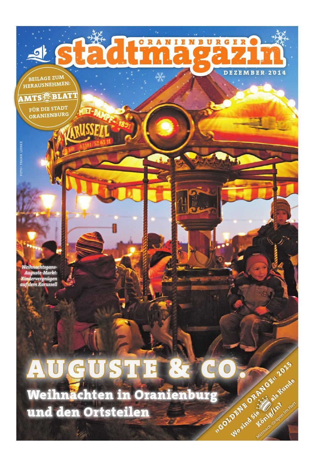 Oranienburger Stadtmagazin (Dezember 2014) by Stadt Oranienburg - issuu