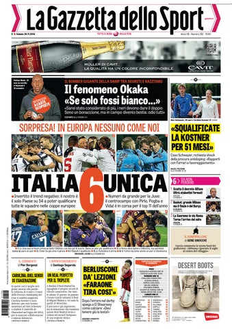 La gazzetta dello sport 29 11 2014 by Gamesworld Giammello - issuu 3f3f4742f1a3
