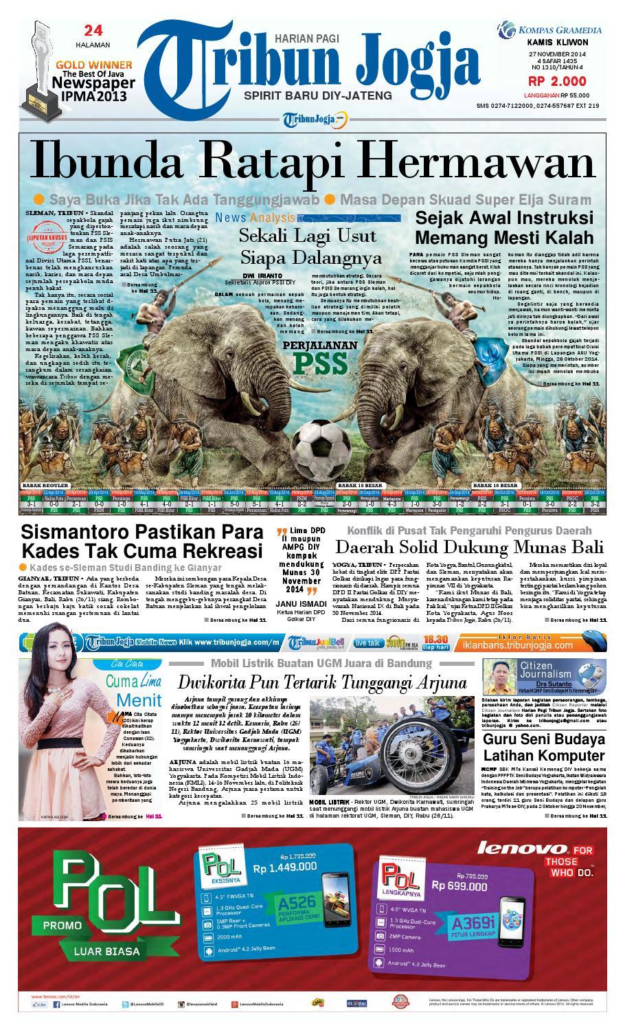 Tribunjogja 28 01 2015 By Tribun Jogja Issuu Produk Ukm Bumn Dat Edwina Bali Orange Slip On 27 11 2014