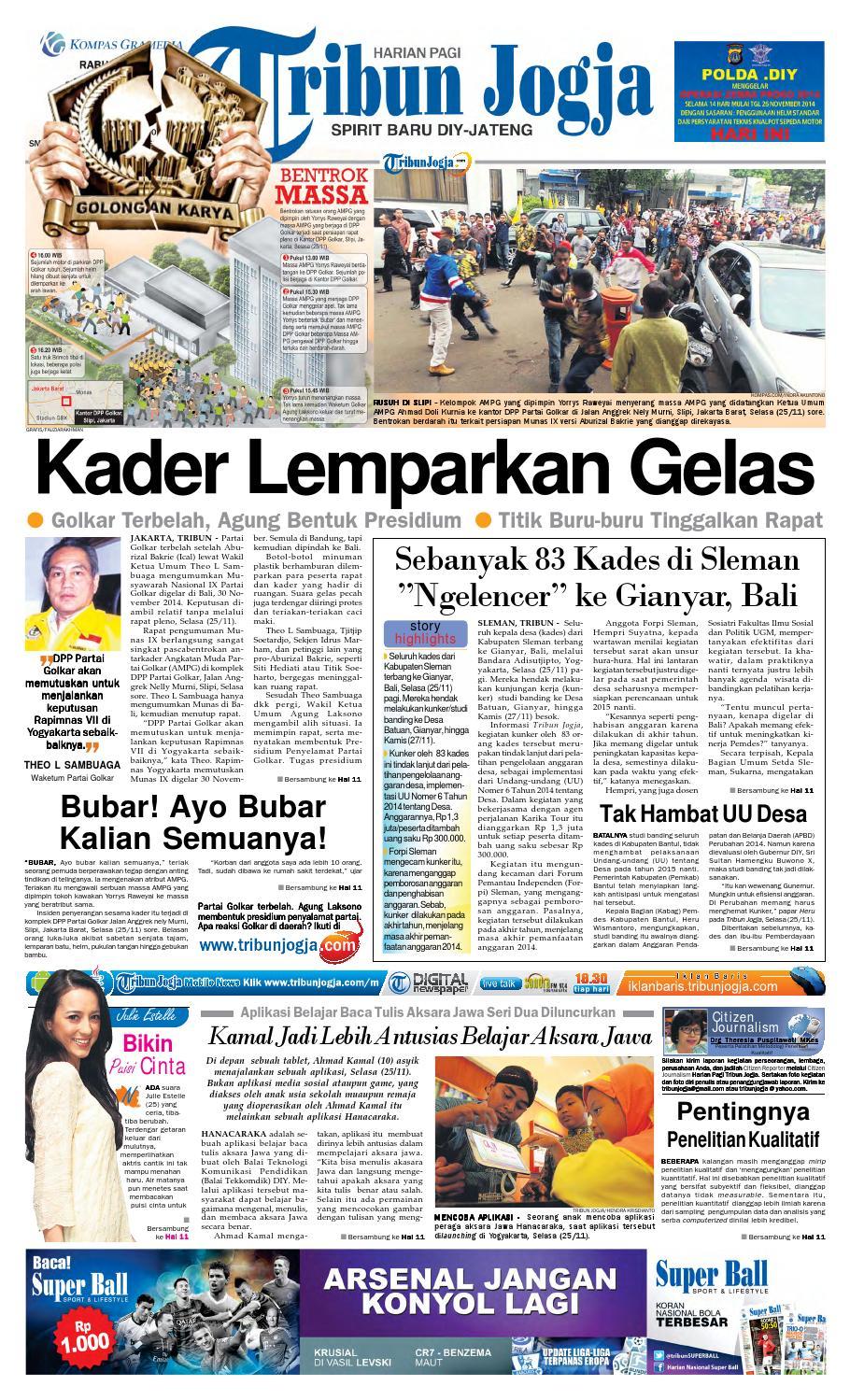 Tribunjogja 26 11 2014 By Tribun Jogja Issuu Produk Ukm Bumn Gaun Putih Maya Raisa Kebaya