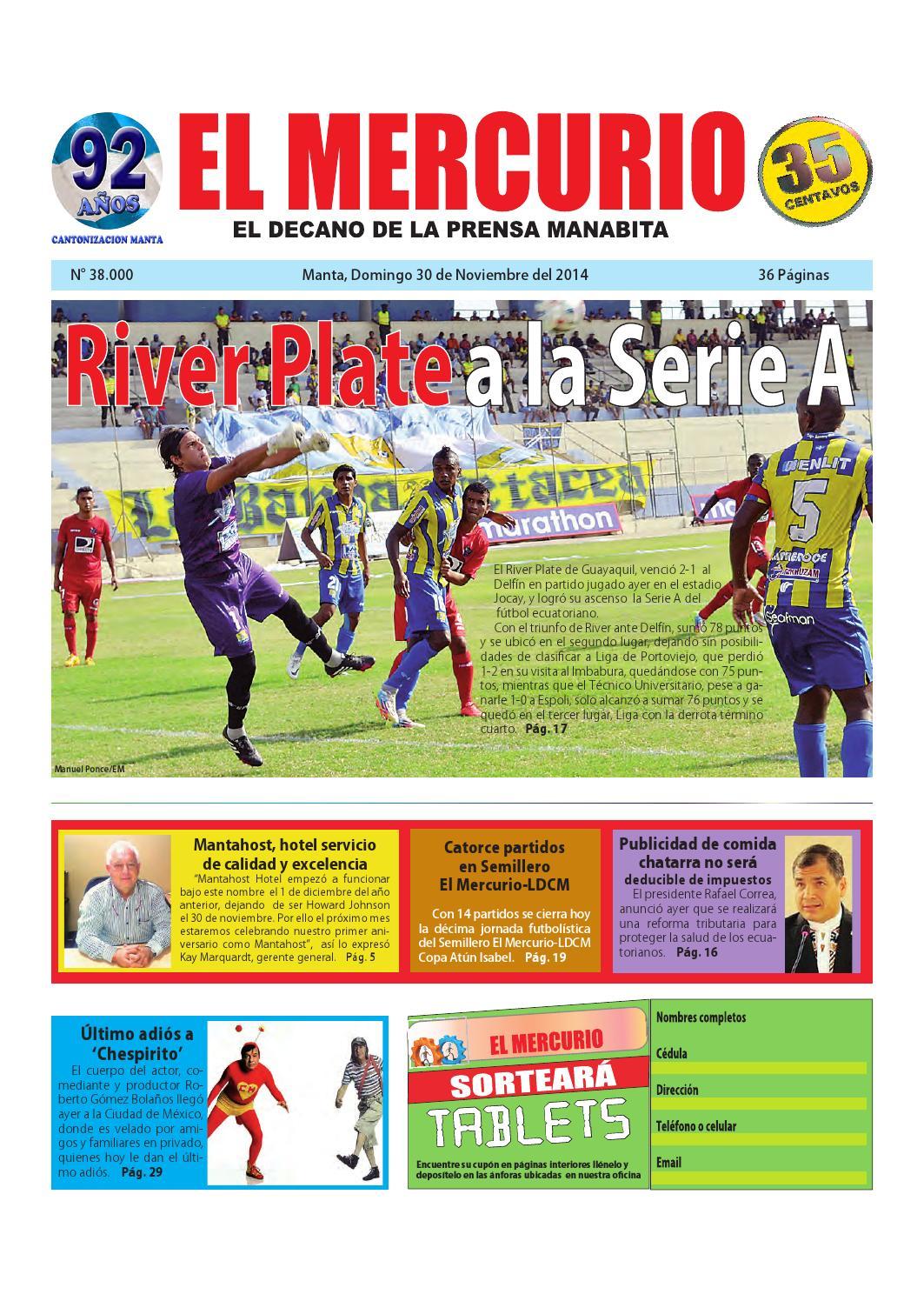 Mercurio domingo 30 de noviembre del 2014 by Diario El mercurio - issuu
