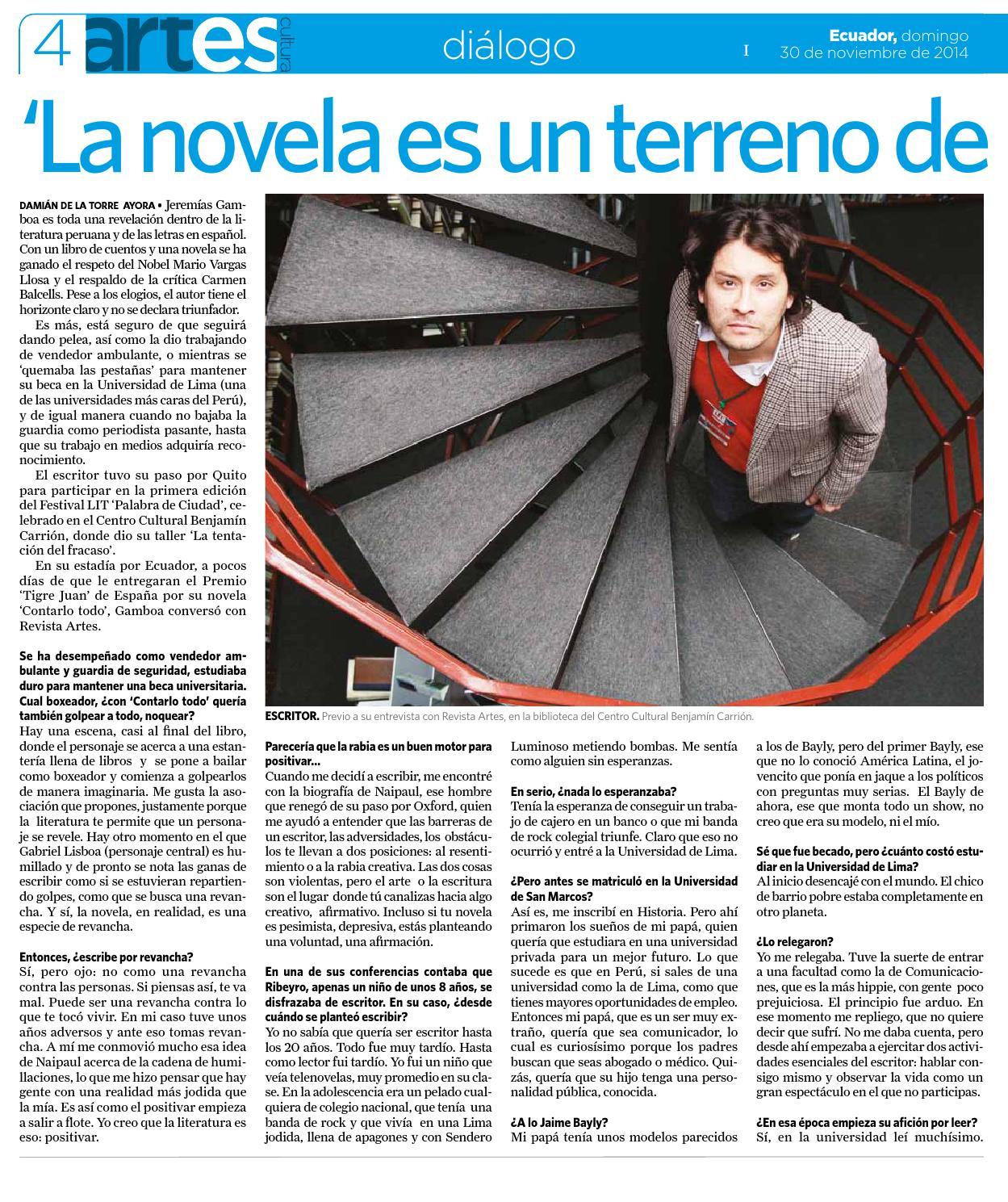 Quito 30 De Noviembre 2014 By La Hora Ecuador Issuu Ambos grabaron para el segmento 'la. issuu