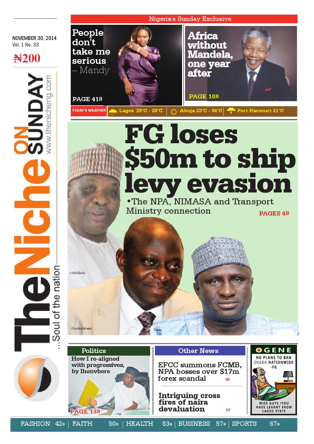 Theniche November 30 2014 Edition By Umoh Ofofon Issuu