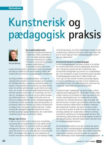 Modus 08 2014 By Dansk Musikpædagogisk Forening Issuu