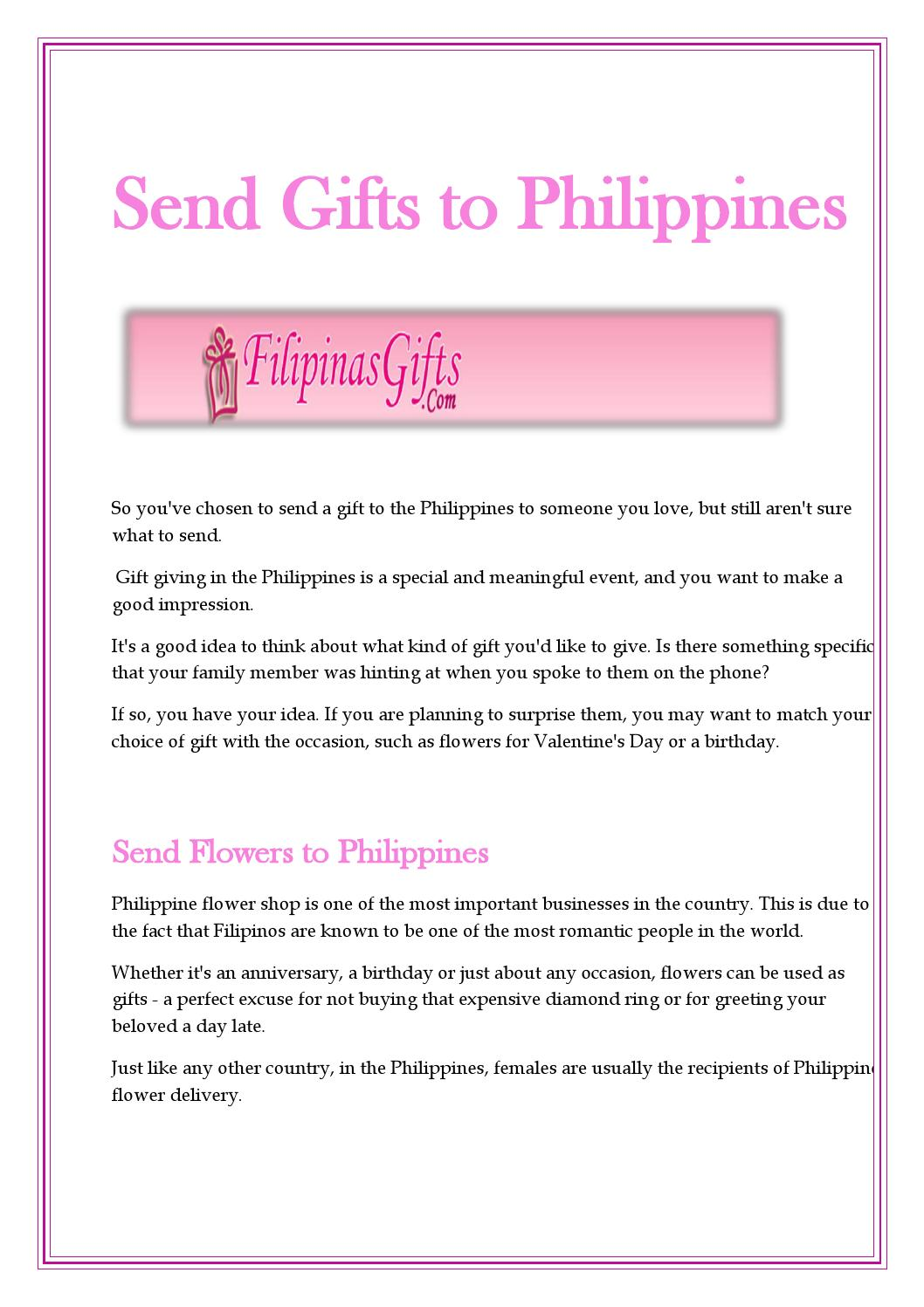Online Send Gifts To Philippines