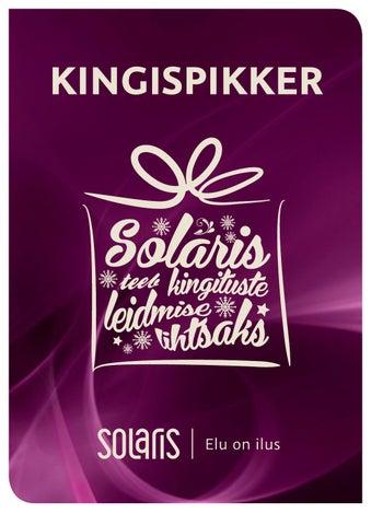 9d508530a2a Solaris kingispikker by solaris keskus - issuu