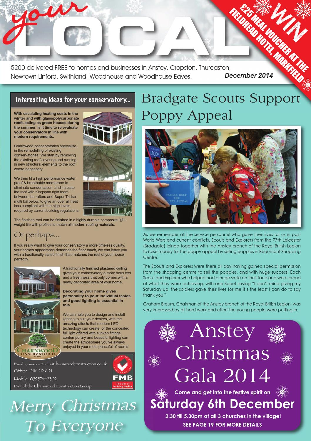December 2014 - Your Local Anstey, Thurcaston, Cropston, Swithland ...