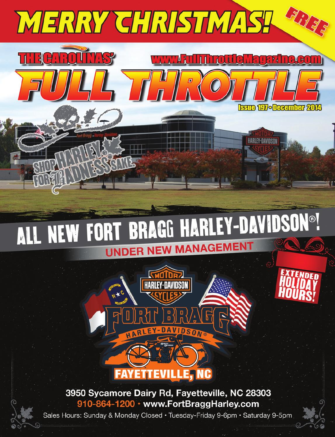 December 2014 issue 197 by the carolinas 39 full throttle - Cruisin carolina magazine ...