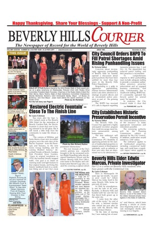Bhcourier 112114 E Edition By The Beverly Hills Courier Issuu