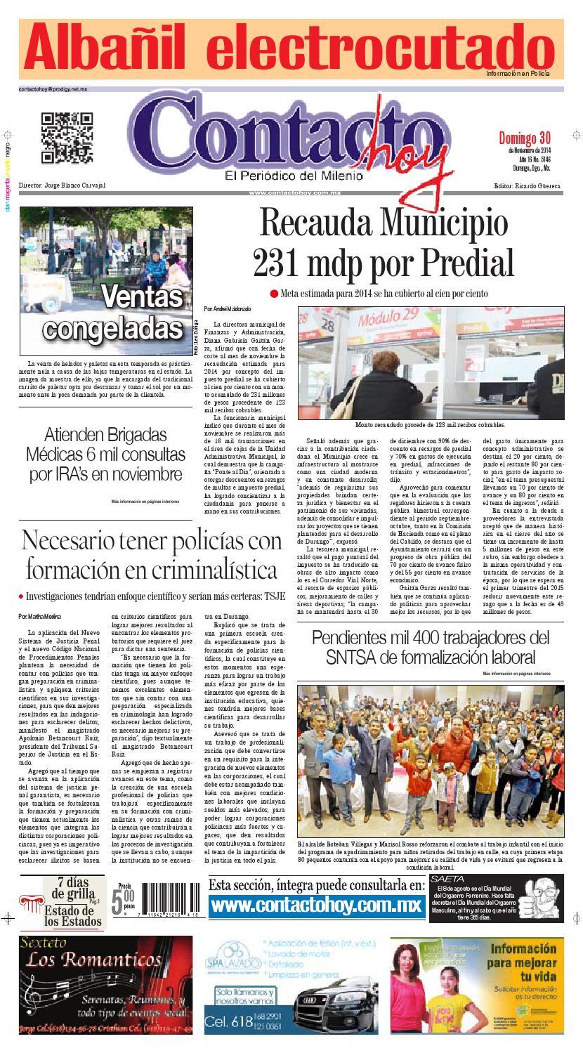 Contacto hoy del 30 de noviembre del 2014 by Contacto hoy - issuu