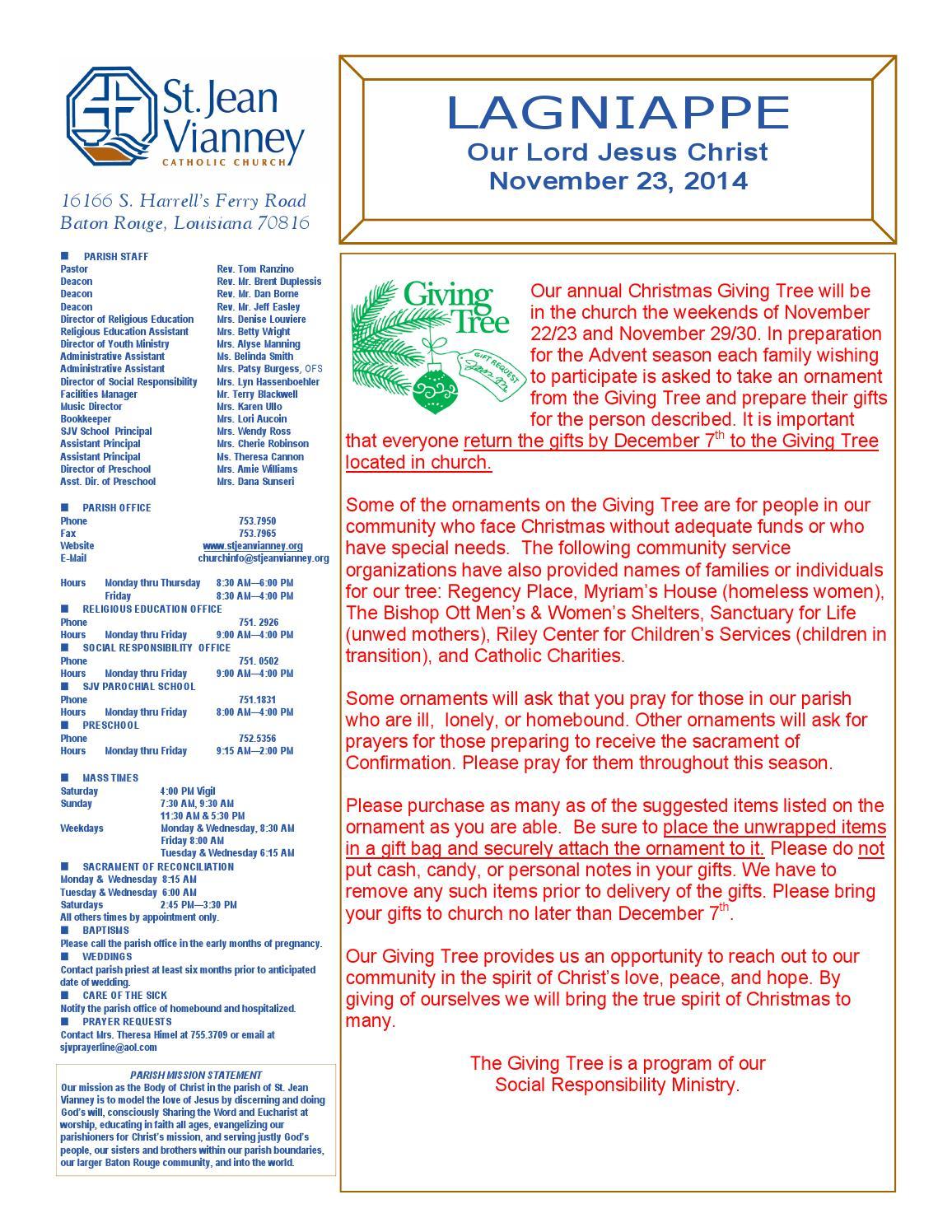 November 23 2014 original by St  Jean Vianney Catholic