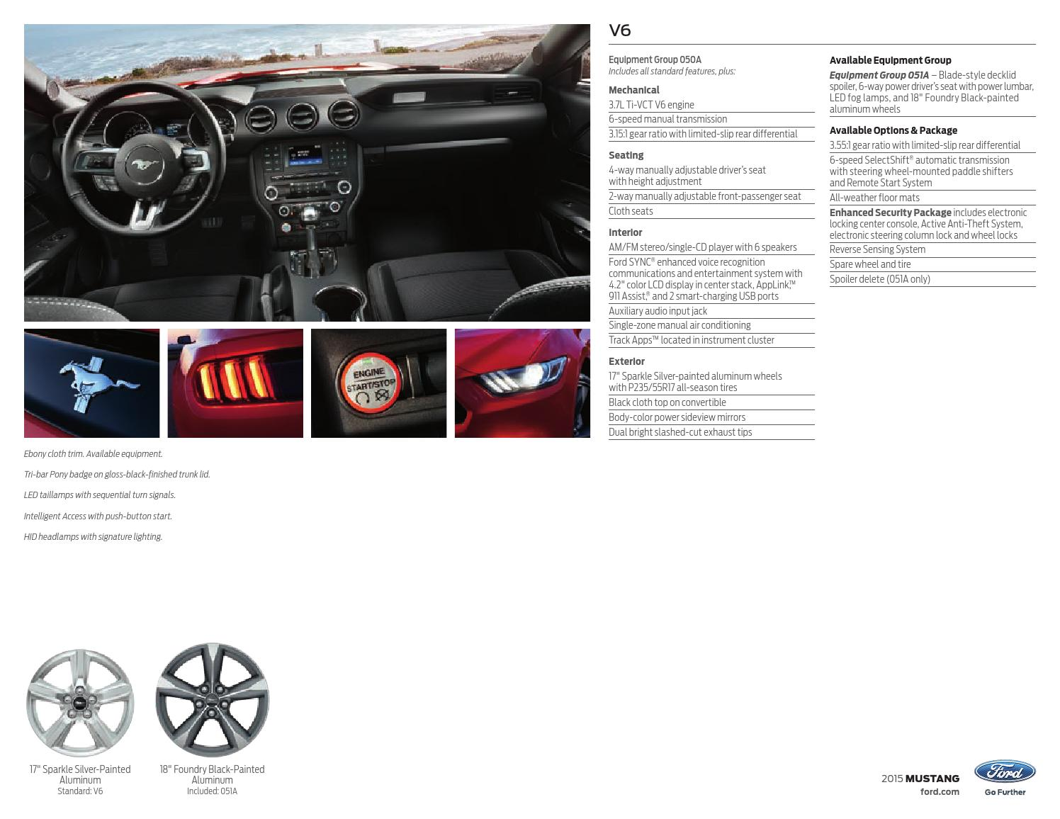 2015 Ford Mustang Factory Brochure - Bob Smith Ford by Bob Smith