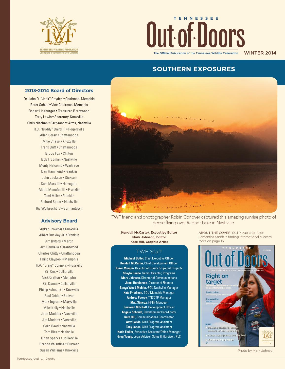 Tennessee Out-Of-Doors Winter 2014 by Tennessee Wildlife Federation