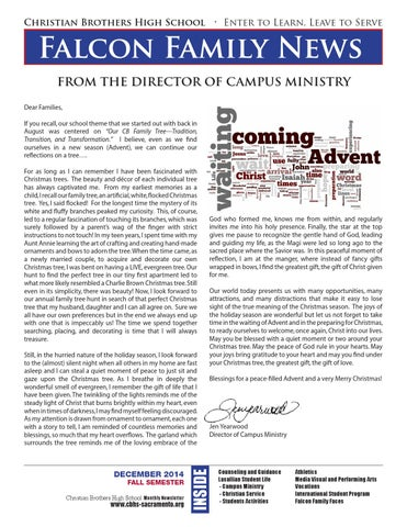 Christian Brothers Near Me >> December2014falconfamilynews By Christian Brothers High