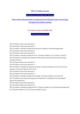 psy315 week 4 Psy_315_week_four_practice_problems_solutiondocx buy tutorial $2299 save time and money  psy 315 r4 week 4 practice problems university of phoenix material.
