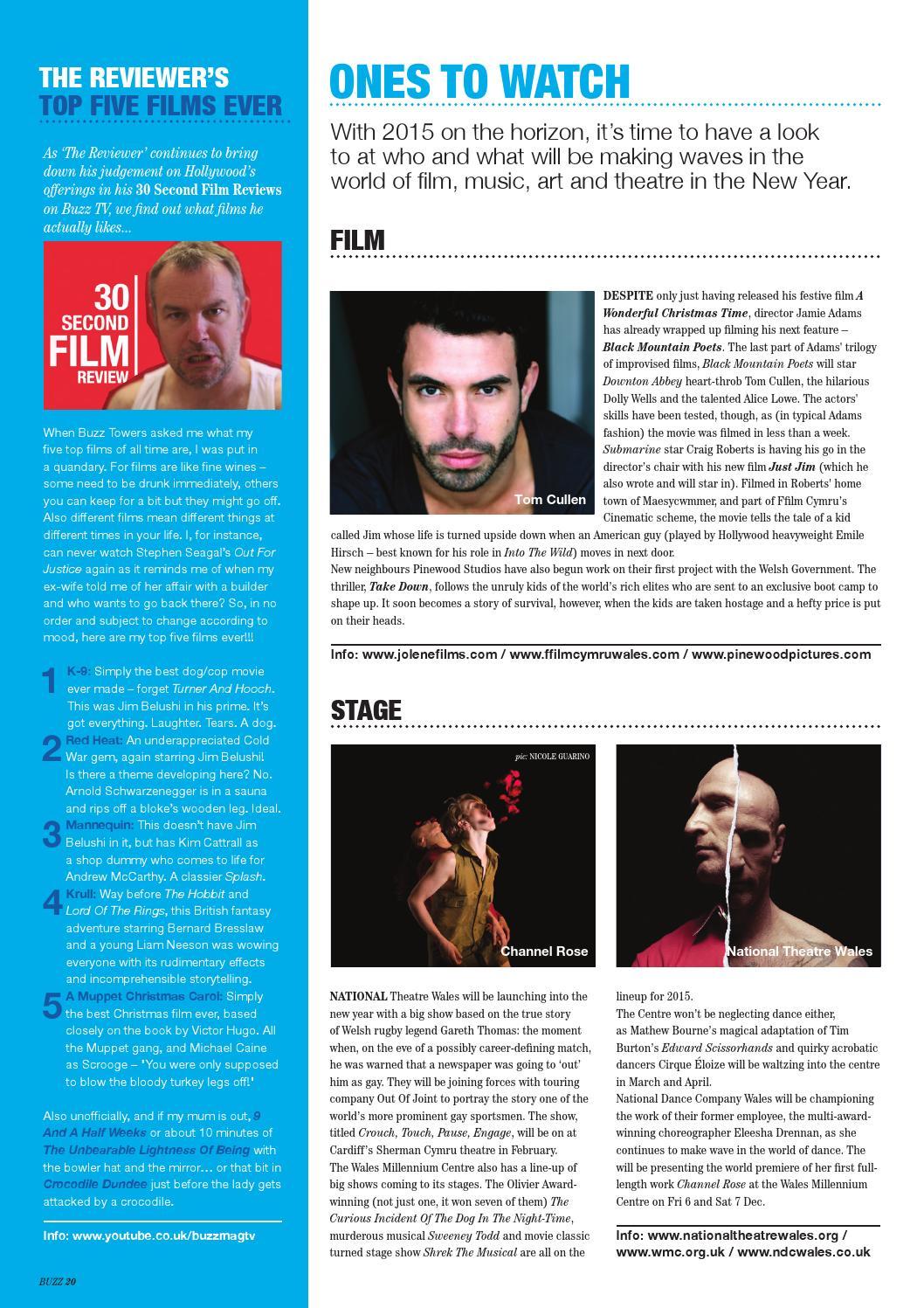 Buzz Magazine - Dec 2014/Jan 2015 - Film & Festive Issue by