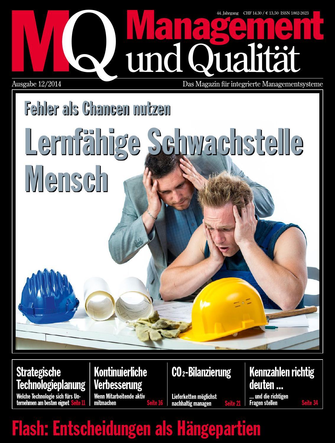 MQ Management und Qualität by SAQ Swiss Association for Quality ...