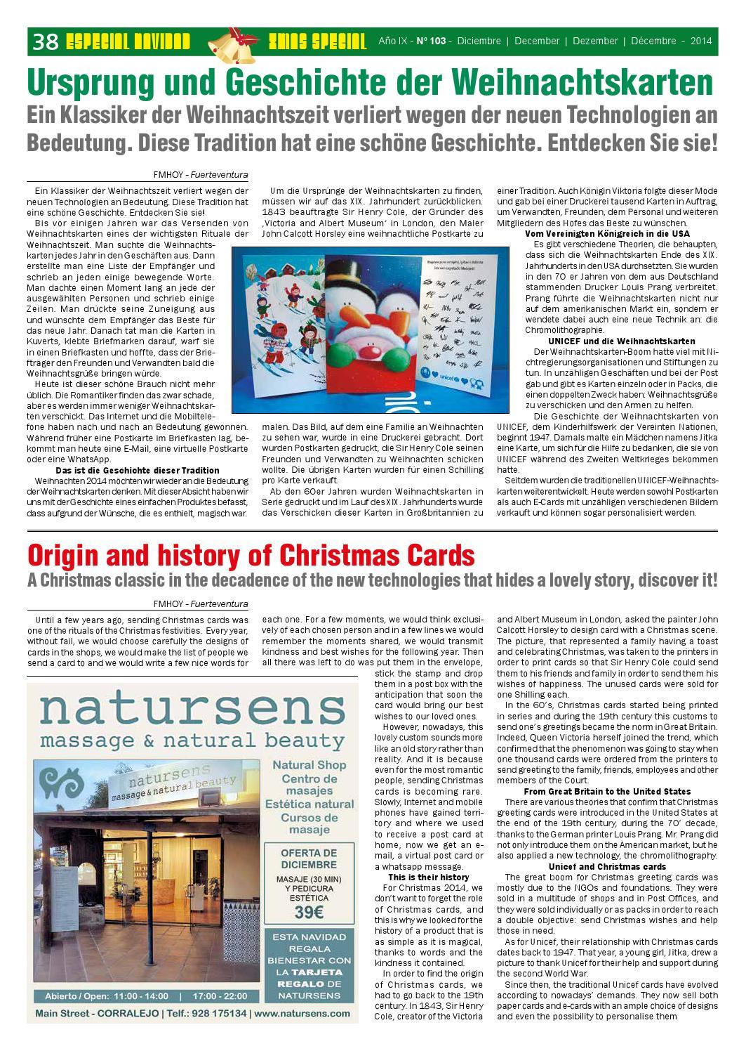Virtuelle Weihnachtskarten Verschicken.Fuerteventura Magazine Hoy Nº 103 Diciembre By Fuerteventura
